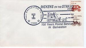 POSTAL SERVICE IN GALVESTON SLOGAN CANCEL, GALVESTON, TX 1985  FDC9830