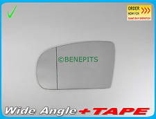 Wing Mirror Glass Wide Angle MERCEDES C CLASS W203 2000-2007 +TAPE Left  E010