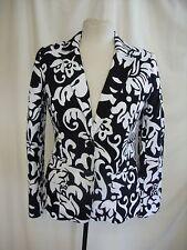 Ladies Jacket Edina Ronay, UK 12, EU 38 black & white cotton, fitted, smart 8336