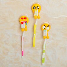 15 Styles Cute Funny Cartoon Emotion Toothbrush Holder Bathroom Suction Cup Tool