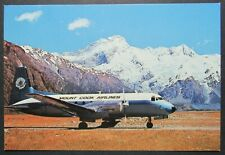 Hawker Siddley 748 Mount Cook Airlines Mt Cook Airport Canterbury NZ Postcard