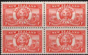 """New Zealand. 1936. Health. """"Life Buoy"""". Block 4. MUH."""