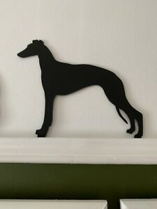 Whippet / Greyhound / Lurcher Dog Door Topper Silhouette Ornament Gift Present