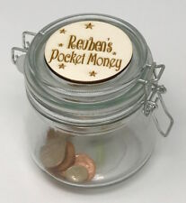 Personalised Child's Pocket Money Jar - Kids Money Box - Children's Savings Jar