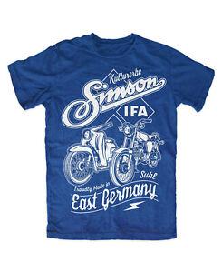 Simson Kulturerbe T-Shirt BLAU Kult S50 S51 DDR Simson OSTKULT Weltkulturerbe