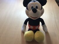 """Disney MickeyMouse Soft Toy 12"""" tall Pre-owned."""