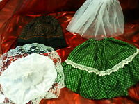 pour poupée 25cm 4piéces vétements ,jupon ,jupes  et futur chapeau