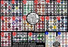 NFL Football You Pick 10 Teams + 2 Logo sheets 182  Precut  Bottle Cap Images