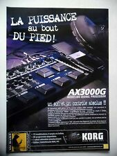 PUBLICITE-ADVERTISING :  Pédalier KORG AX3000G  12/2005