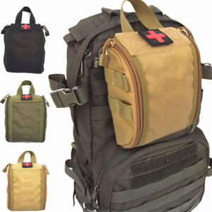 Durable 1000D Molle Tactical EMT Medical First Aid Kit Pouch Utility Trauma Bag