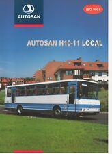 Autosan H10-11 Local bus (made in Poland) _2000 Prospekt / Brochure