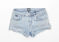 Womens Superdry Blue Denim Shorts Size W30/L2