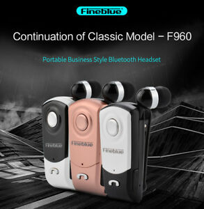 FineBlue F960 Wireless Bluetooth 4.0 Headset Business Earphone Vibrating Clip on