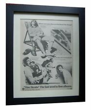 DIRE STRAITS+Debut+1st+LP+POSTER+AD+RARE ORIGINAL 1978+FRAMED+FAST GLOBAL SHIP