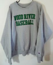 Vtg Wood River Nebraska HS Scott Fost Coached Baseball Champion Sweater Sz XL