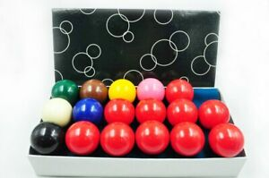 """Brand New Pool Table Accessories 2"""" Snooker Ball Set (10 Red)"""