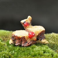 1 Pc Mushroom Stump Miniatures Fairy Garden Bonsai Micro Landscape Ornaments DIY