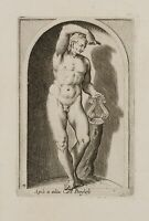 PHILIPPE THOMASSIN (Troyes 1562-1622), Statue Apolls a.d. Slg. Borghese, Kupfer.