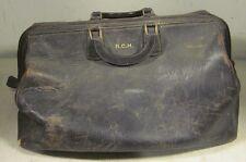 Vintage Oshkosh Leather Large Doctor's Bag Style Luggage Carry