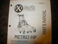 Exmark metro hp 220,000 & higher parts manual ipl 850663