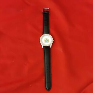 Manchester City FC Watch Leather Type Strap Needs Battery