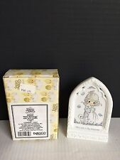 "PRECIOUS MOMENTS 5"" ""BIBLE BLESSINGS""~GIRL WITH LAMBS~PLAQUE 255866 Enesco W/BOX"