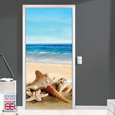 Relax Beach Holiday Self-Adhesive Door Mural Sticker Decal Home Art Decorations