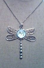 NEW Silver Dragonfly SNAP necklace + 3 snaps works w/Ginger snaps 18 mm