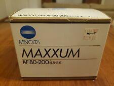 Minolta Maxxum AF 80-200/4.5-5.6 Zoom Lens - New in Original Packaging