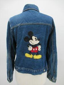 P4402 VTG Disney Women's Mickey Mouse Denim Trucker Jacket Size L