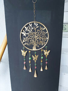 TREE OF LIFE IRON WINDCHIME MOBILE WITH BELLS HANDMADE IN  INDIA