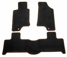 New Factory Black Ebony Morroco Black Edge Carpet Floormat Set For Hummer H3