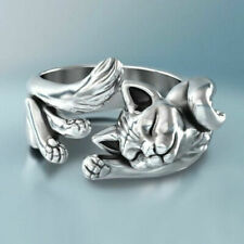 """925 SILVER FILLED ( STAMPED ) """" LAZY CAT """" RING SIZE Q LIMITED NUMBER !"""