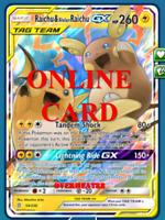 Raichu & Alolan Raichu GX RA Unified Minds Pokémon TCG Online PTCGO CARD FAST!!