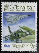 Panavia TORNADO GR4 & Sepecat JAGUAR GR3 2008 RAF Aircraft Stamp (Gibraltar)