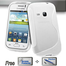 S Clear Gel Jelly Cover Case Telstra Samsung Galaxy Young GT-S6310T S6310 + S&S