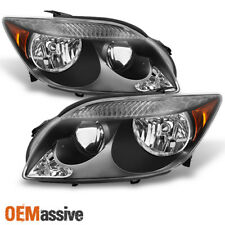 05-07 Scion Tc Black Bezel Headlights HeadLamps Replacement Left+Right 2005-2007(Fits: Scion)