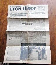 Journal LYON LIBÉRÉ N° 4 mercredi 6 septembre 1944
