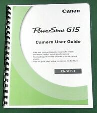 Canon PowerShot G15 Instruction Manual: 316 Pages & Protective Covers