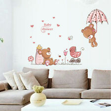 Removable Cute Bear Pattern Wall Sticker Girl Baby Children Room Art Decor Decal