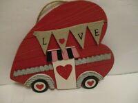 HAPPY VALENTINES DAY DECOR WALL  HANGER  HEART SHAPE