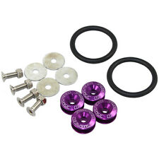 Quick Release Fasteners Purple For Car Bumpers Trunk Fender Hatch Lids Kit