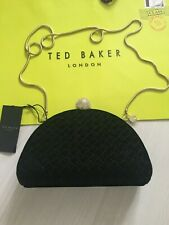 Ted Baker Black Velvet Crossbody or Clutch Bag RRP £129 Perfect Gift : New