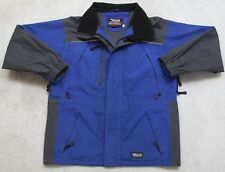 Viking Tempest II Winter Jacket Coat Hooded Blue Gray Black Medium Lined Skiing