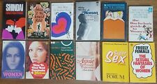 Twelve vintage books from 1960s and 70s about sex and relationships