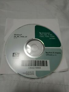 HP Photosmart 130/230/7150/7345/7350/7550 Printers Driver Disc Software