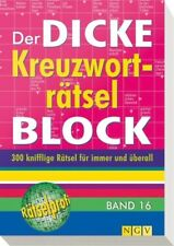 Der dicke Kreuzworträtsel-Block Band 16 - 9783625172413