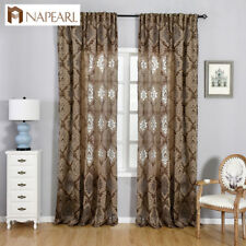 NAPEARL 1 Panel Floral Design Kitchen Curtains Home New Decorative Short Drapes