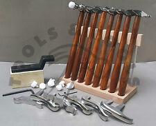 8 texturing hammer & 6 miniatura posta in gioco la progettazione di formare gioielli metallo repousse