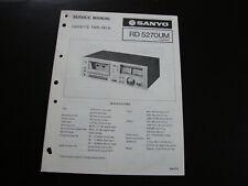 Original Service Manual Schaltplan SANYO RD5270UM